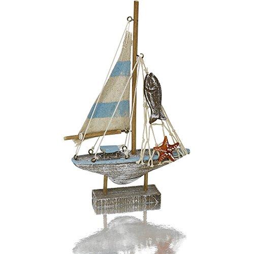 Deko Segelschiff aus Holz, 14 x 21 cm (Schiff Dekorationen)