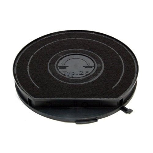 Universal-Dunstabzugshaube anthrazit Carbon Filter Typ 28. Durchmesser: 240mm 34mm Tiefe