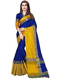 Shreeji Designer Cotton Silk Party Wear Saree With Blouse Piece COTTON-SILK PLAIN-2