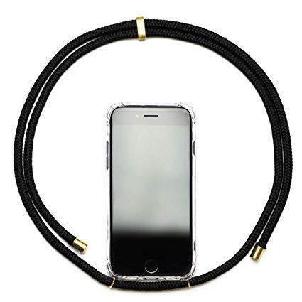 iPhone 6 Handykette Necklace Handy - schwarz case Hülle Handy Kette Hals Strap (iPhone 6, Schwarz)