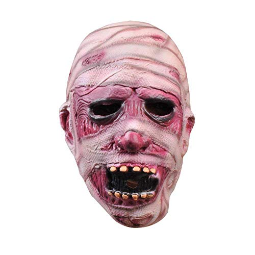 Aolvo Zombie-Maske für Erwachsene, Kinder, hässliche Zombie-Maske, umweltfreundlich weiches Latex Horror Gruselmaske Halloween Maske Party Kostüm Requisiten Dekoration Neuheit Clown Gesichtsmaske Halloween ()