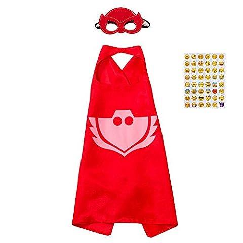 PJ Masks Kostüm,1 Capes und Masken für Kinder Superhero Costume Party Supplies