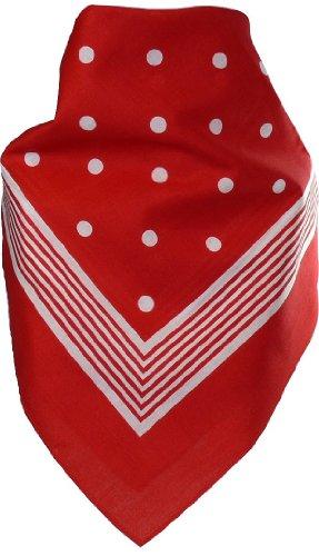 bandana-mit-punkten-in-reiner-baumwolle-farbenrot
