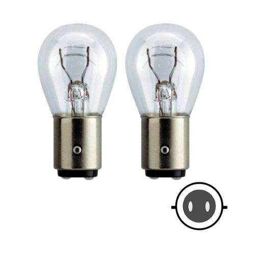 Preisvergleich Produktbild 58062 - Glühlampen Set Ersatzlampe 21W/5W BAY15D 12V Zweifadenlampe Bremslicht Schlusslicht