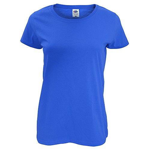 Fruit Of The Loom - T-shirt à manches courtes - Femme Bleu roi