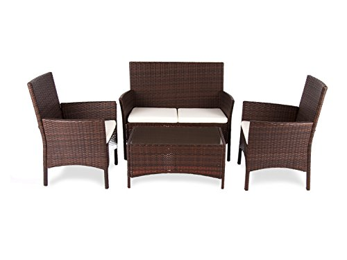 Dajar Gartenmöbel-Sets Möbel-Set Dominique, Wenge, braun