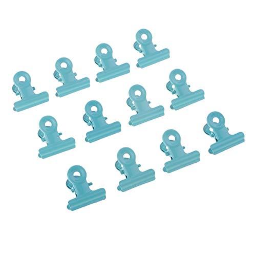 Fenteer 12 Stück Metall Bulldogge Clips Scharnier Clip Clamp Bürobedarf