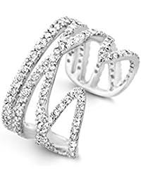 Joelle Jewellery Donna    placcato oro Rotonda   bianco Diamante