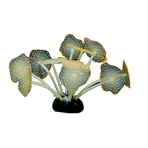 Yangge Yujum Leuchtende künstliche Aquarium Coral Silikon Pflanze Wasser Landschaft Dekoration Aquarium Ornament