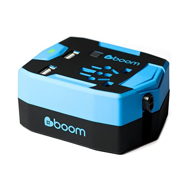 #boom Travel Adapter Power Bank. ULTIMATE TRAVEL ADAPTOR Portable USB CHARGER Wall Plug with Built In 6000mAh POWER BANK External Battery & 2.5A 2 Port Fast USB Charger. Simultaneous AC Power & USB Charging. International 150+ Countries inc. UK EU USA Thailand Australia. 1 Yr Warranty. 41tdPx5KIlL