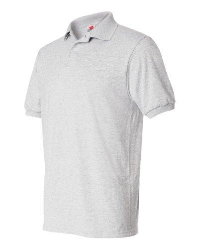 Hanes Herren Comfortblend EcoSmart Jersey Polo Asche
