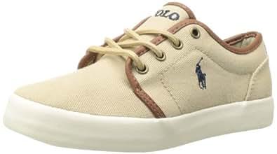 Polo Ralph Lauren Kids Ethan Low Lace-Up Sneaker (Little Kid/Big Kid),Khaki,1 M US Little Kid