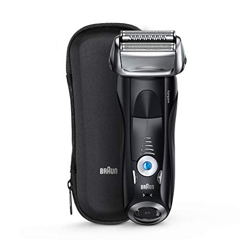 Braun Series 7 7840s Rasoio Elettrico Barba a Lamina senza Fili Wet&Dry da Uomo, battery, pivoting shaving unit;precision trimmer;rechargeable;sonic technology;wet & dry
