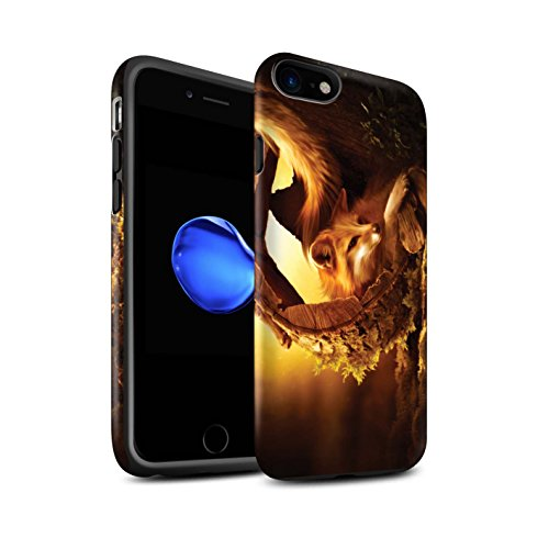 Officiel Elena Dudina Coque / Matte Robuste Antichoc Etui pour Apple iPhone 7 / Oui Maman/Lion/Petit Design / Les Animaux Collection Jacinthe