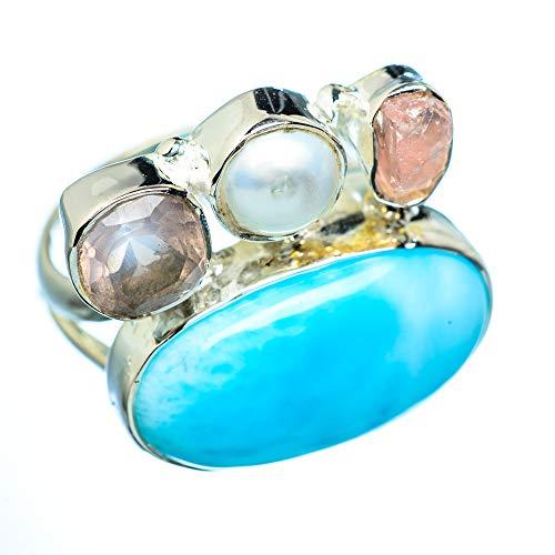 Larimar, Atlantisstein 925 Sterling Silber Ring 6.5 (Ana Silver Co Ringe)