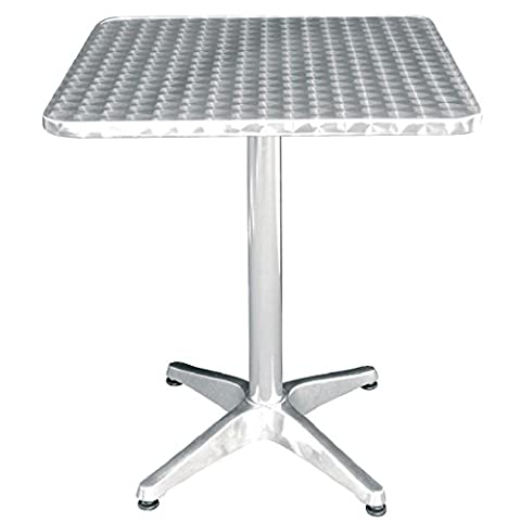 Commercial Square Bistro Table Stainless Steel 600mm Canteen Cafe School Workplace Garden Patio