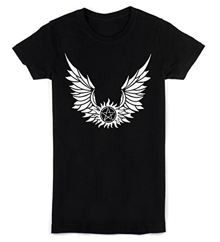 Pentagram With Wings Women's T-Shirt Large