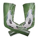 ZZKKO Fútbol portería brazo de refrigeración mangas cubierta UV protección solar para hombres mujeres running golf ciclismo brazo calentador mangas 1 par