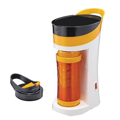 Coffee Machine Home Kleine tragbare automatische Tropf-Doppelschicht-Tasse - Orange Blau Grün Lostgaming (Color : Orange)