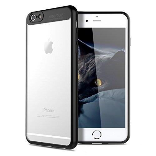 VemMore Cover iPhone 6S Plus/iPhone 6 Plus Custodia Cover Hard PC Trasparente Crystal Clear 360 Gradi Protezione Slim Sottile Case Plastica Dura Bumper Caso Cover Protettiva - Nero