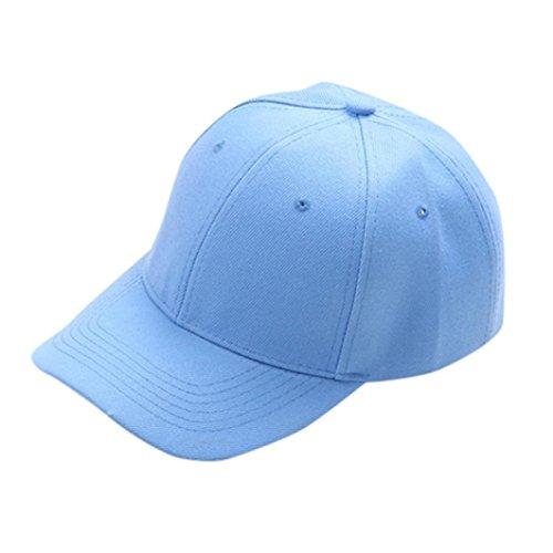 erthome Baby Hut Kappe, Baseball Cap Kinder Teenager Sommer snapback Hut Kappe Junge Mädchen Solide Hüte Caps (Himmelblau)