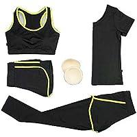 Blancho Bedding Traje de Yoga, Chándales de 4 Piezas para Mujeres, Trajes de Jogging, Fitness Training Set