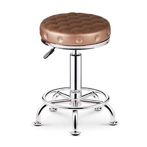 BARHOCKER MUMUA, runder Hocker, Schönheitshocker, Stuhl , Moderne Einfachheit höhenverstellbar mit Rückenlehne drehen - 33 * 33 * 41-52cm - Mehrfarbig optional (Farbe : PWZ-7)