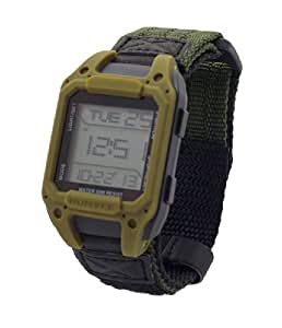 Humvee Digital Watch - Mens Tough Military Style Water and Scratch Resistant - Wristwatch - Green