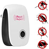 MegaDeal Ultrasonic Pest Chaser for Bugs, Mice and Cocroach, White
