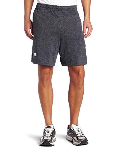 Russell Athletic Herren Baseline Short mit Taschen Baumwolle - Schwarz - 4X-Groß (Top Russell Tank Athletic Athletic)