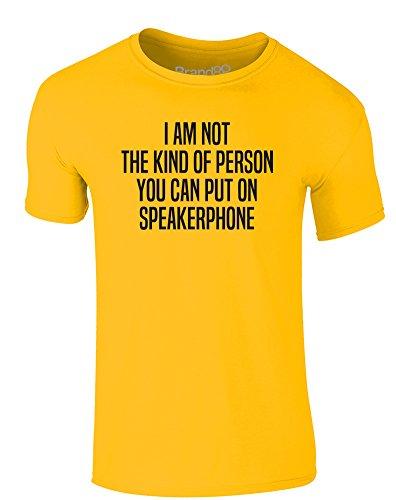 Brand88 - Speakerphone, Erwachsene Gedrucktes T-Shirt Gänseblümchen-Gelb/Schwarz