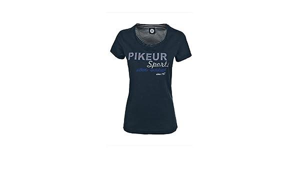 Pikeur Damen T-Shirt mit Kontrastmaterial Audrina