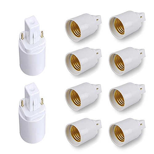 AiteFeir G24 auf E27 Lampensockel Adapter - 10er Packs