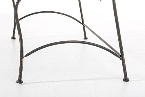CLP Metall-Gartenbank RONJA im Landhausstil, Eisen lackiert, 108 x 55 cm, 2er Sitzbank Bronze - 8