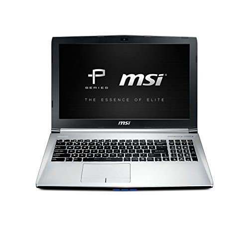 MSI PE60-2QEi78H11 39,6 cm (15,6 Zoll) Laptop (Intel core i7 4720HQ, 2,6GHz, 8GB RAM, 128GB SSD, NVIDIA GF GTX 960M, Win 10 Home) silber
