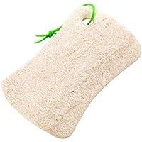 Zerama Cuadrado/Forma Redonda Natural Loofah Luffa Cepillo de baño de Cocina Lavar Cuerpo de la Olla Cuenco Esponja de Goma