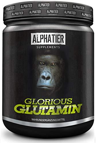 ALPHATIER GLORIOUS L-GLUTAMIN Pulver 500g Ultrapure - 99,95{cb841566dc9f493c169b2c34e14ec15ecbc095c816b705356a58f54fef7a84f0} rein - MAXIMALE DOSIERUNG - Glutamine Powder ohne Zusatzstoffe - hergestellt in Deutschland - Fitness & Bodybuilding