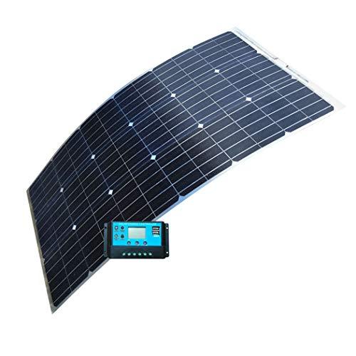 Banca di Energia Solare, 12V 100W Batteria Solare Caricabatteria da Auto con Il Controller Semi-Portatile Flessibile Pannello di Energia Solare, per Il Settore Automotive, Barca, Cam