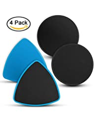 VANWALK Discos de deslizamiento Sliders de ejercicios - Pack de 4 - Sliders de piso de base de doble cara para todas las superficies