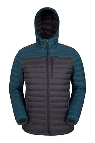 Mountain Warehouse Henry Herren Gefütterte Daunenjacke Leicht Warm Isoliert Perfekt für Winter Grau