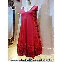 vestido rojo algodon fuego