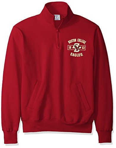 Champion NCAA Herren Jacke Boston College Eagles Power Blend Fleece Quarter Zip Jacket Medium Cardinal -