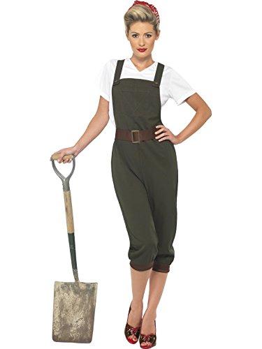 Smiffys 39491S–Kostüm der zweite Weltkrieg für Damen, Größe ()