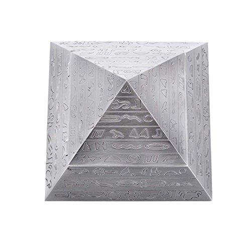 Max & Mix Creative Fashion Pyramide Aschenbecher Aschenbecher mit einem Deckel von ASCHE R ¨ ¦ Tro Carving Tablett porte-rangement Bo? Te-Aufbewahrungsbeutel Home Decor Bar für Männer Raucher silber - 5