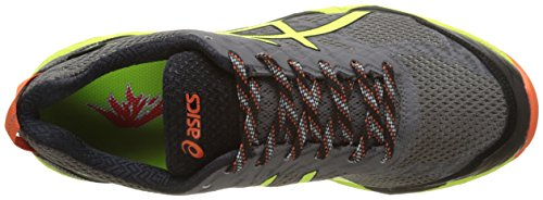 Asics Gel-Fujitrabuco 5 G-Tx, Scarpe Running Uomo Grigio (Shark/safety Yellow/black)