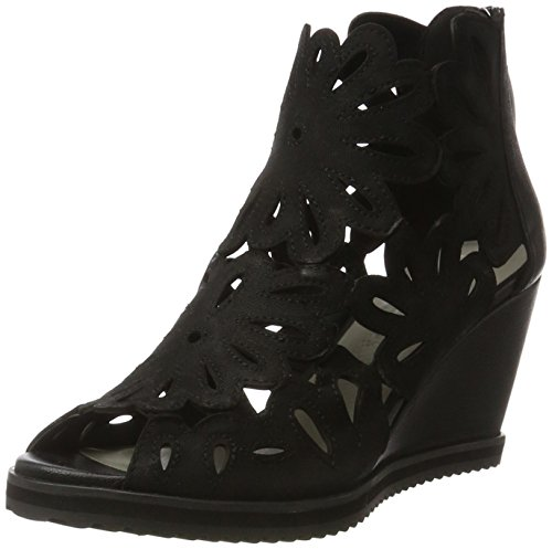 Gerry Weber Shoes Damen Adriana 06 Kurzschaft Stiefel, Schwarz (Schwarz), 39 EU (Keil-stiefel)