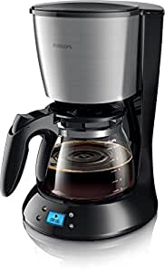 Philips HD7459/20 Daily Filter-Kaffeemaschine, Timer, schwarz/metall