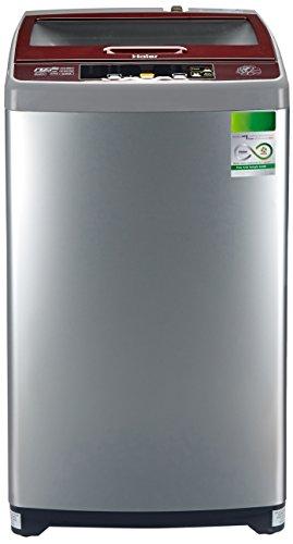 Haier 6.5 kg Fully-Automatic Top Loading Washing Machine (HWM65-707NZP, Silver...