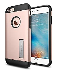 iPhone 6S Hülle, Spigen® [Slim Armor] Integrierter Kickstand [Rose Gold] Luftpolster-Technologie an den Kanten / 2-teiliges Case Schutzhülle für iPhone 6/6S Case, Cover - Rose Gold (SGP11723)