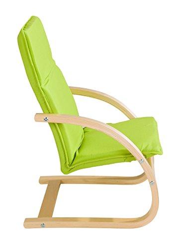 Home4You Kindersessel Kinderstuhl Freischwinger BONNY 4   Apfelgrün   Holz   Baumwolle   Sitzhöhe 28 cm - 3